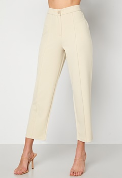 BUBBLEROOM Joanna soft suit pants Light beige Bubbleroom.se