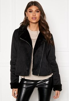 BUBBLEROOM Julia biker jacket Black Bubbleroom.se