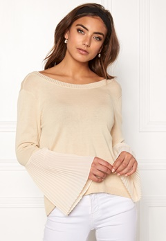 BUBBLEROOM Juliet knitted sweater Beige Bubbleroom.se