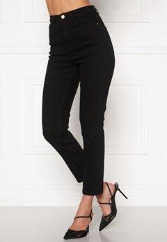 BUBBLEROOM Katy high waist semi stretch jeans Black Bubbleroom.se