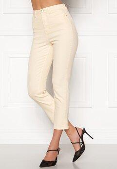 BUBBLEROOM Katy high waist semi stretch jeans Cream Bubbleroom.se