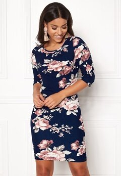 BUBBLEROOM Kecia dress Blue / Floral Bubbleroom.se
