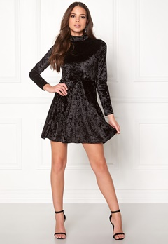 BUBBLEROOM Kenzie Velvet Dress Black Bubbleroom.no