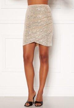 BUBBLEROOM Kira sparkling skirt Champagne / Silver Bubbleroom.se