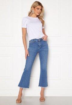 BUBBLEROOM Kyla kick flare stretch jeans Medium blue Bubbleroom.se