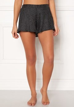 BUBBLEROOM Laila satin shorts Black / Dotted Bubbleroom.se