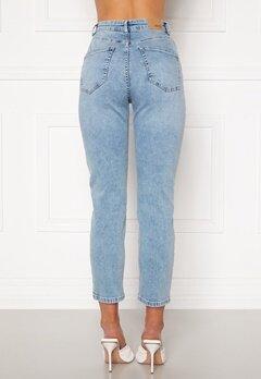 BUBBLEROOM Lana high waist jeans Light blue Bubbleroom.se