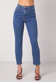 BUBBLEROOM Lana high waist jeans Medium blue bubbleroom.se