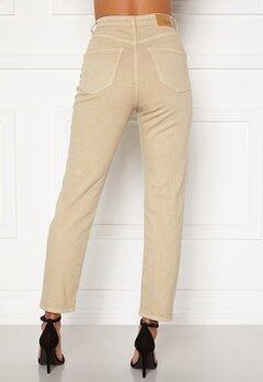 BUBBLEROOM Lana high waist jeans Beige Bubbleroom.se