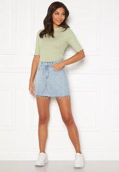 BUBBLEROOM Laney denim skirt Light denim Bubbleroom.se