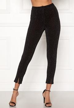 BUBBLEROOM Lene glittery trousers Black / Silver Bubbleroom.se