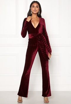 BUBBLEROOM Lene jumpsuit Wine-red Bubbleroom.se