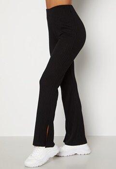 BUBBLEROOM Lesley rib trousers Black bubbleroom.se