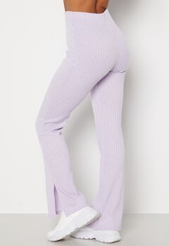 BUBBLEROOM Lesley rib trousers Light lilac bubbleroom.se