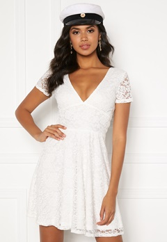 BUBBLEROOM Lexi lace dress White Bubbleroom.se