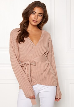 BUBBLEROOM Lillyanne knitted sweater Dusty pink Bubbleroom.se