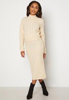 BUBBLEROOM Lively knitted skirt Cream bubbleroom.se