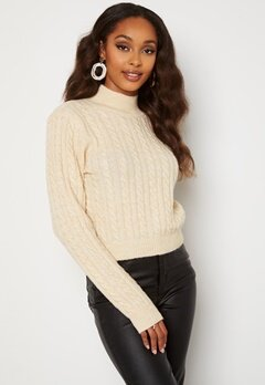 BUBBLEROOM Lively knitted sweater Cream bubbleroom.se
