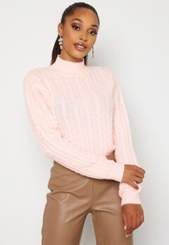 BUBBLEROOM Lively knitted sweater Light pink bubbleroom.se