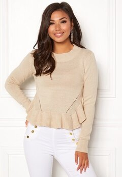 BUBBLEROOM Livia knitted sweater Beige Bubbleroom.eu 95b495609d