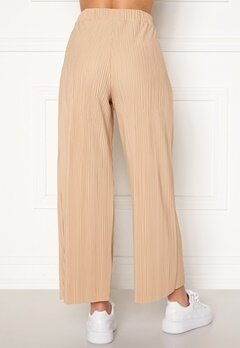 BUBBLEROOM Lola pleated cropped trousers Beige Bubbleroom.se