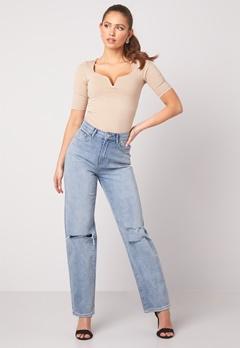 BUBBLEROOM Lori straight leg jeans Light denim Bubbleroom.se