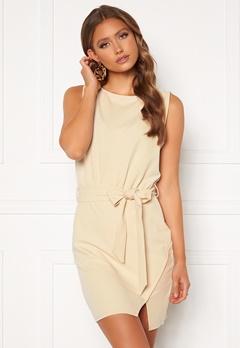 BUBBLEROOM Lorna short sleeve dress Beige Bubbleroom.se