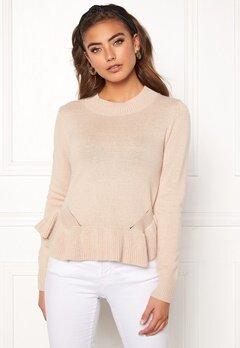 BUBBLEROOM Lova knitted sweater Beige Bubbleroom.se