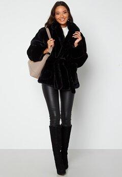 BUBBLEROOM Vadah Faux Fur Jacket Black bubbleroom.se