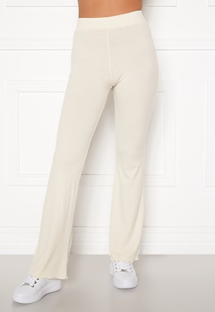 BUBBLEROOM Lykke rib trousers Cream Bubbleroom.se