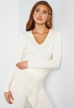 BUBBLEROOM Lynne long sleeve pyjama top Offwhite bubbleroom.se