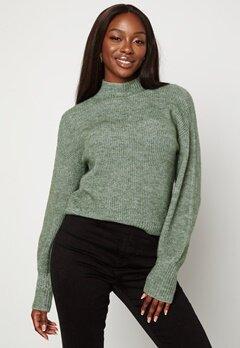 BUBBLEROOM Madina knitted sweater Green bubbleroom.se