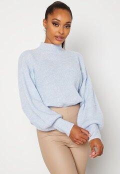 BUBBLEROOM Madina knitted sweater Light blue Bubbleroom.se