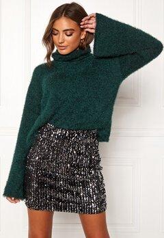 BUBBLEROOM Madison knitted sweater Dark green Bubbleroom.se