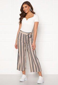 BUBBLEROOM Maja culotte trousers Beige / Black / Striped Bubbleroom.se