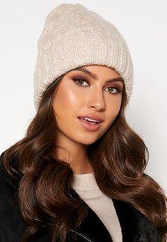 BUBBLEROOM Malin knitted hat Beige Bubbleroom.se