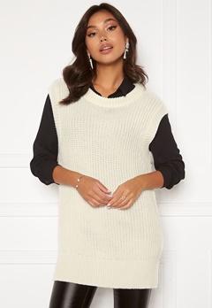 BUBBLEROOM Manja knitted vest Offwhite Bubbleroom.se