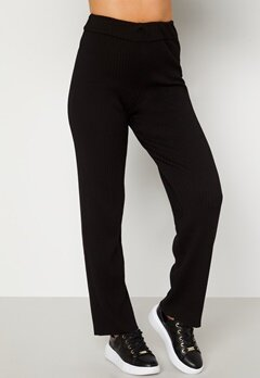 BUBBLEROOM Marah knitted long trousers Black bubbleroom.se
