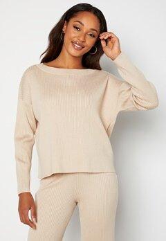 BUBBLEROOM Marah knitted sweater Light beige bubbleroom.se