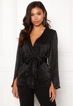 BUBBLEROOM Marianna blazer blouse Black Bubbleroom.se