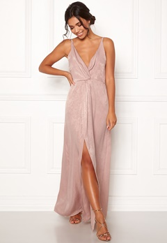 BUBBLEROOM Marianna front twist gown Silver coloured / Pink Bubbleroom.se
