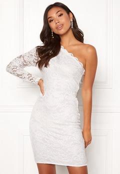 BUBBLEROOM Marianna lace one shoulder dress White Bubbleroom.se