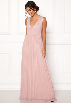 BUBBLEROOM Marianna lace top gown Dusty pink Bubbleroom.se