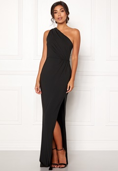 BUBBLEROOM Marianna one shoulder gown Black Bubbleroom.se
