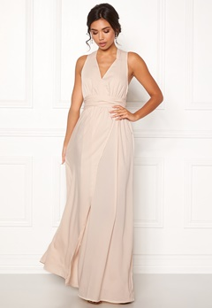 BUBBLEROOM Marianna cross back gown Champagne Bubbleroom.se