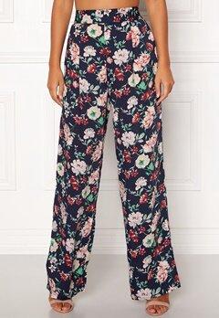 BUBBLEROOM Marianna wide trousers Blue / Floral Bubbleroom.se