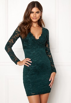 BUBBLEROOM Martha lace dress Dark green Bubbleroom.se