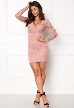 Make Way Martha lace dress Dusty pink Bubbleroom.fi