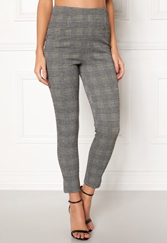 BUBBLEROOM Megan trousers Grey / Yellow / Checked Bubbleroom.se