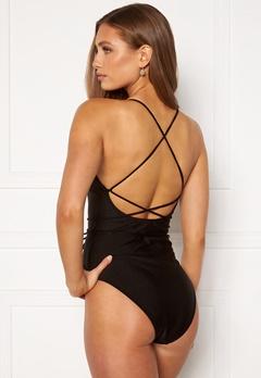 BUBBLEROOM Melia high thigh strap swimsuit Black bubbleroom.se